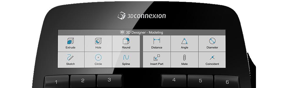 3Dconnexion SpaceMouse Enterprise Ekran